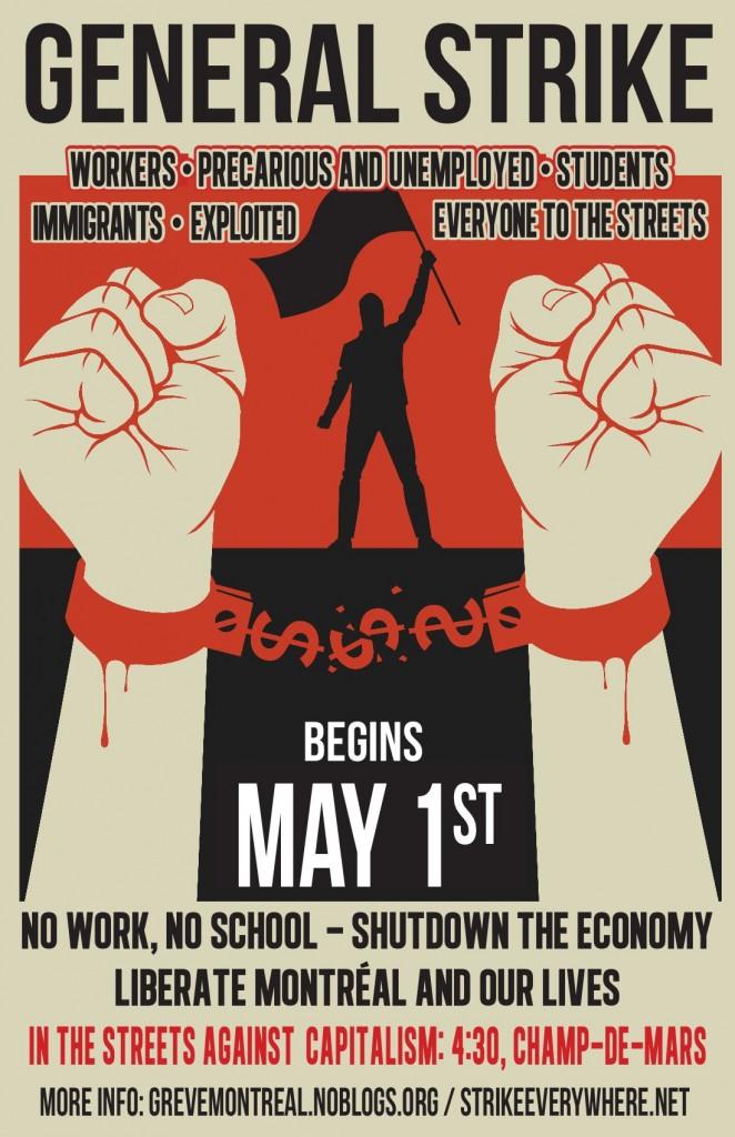 Affiche 1er mai Montréal